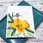 Create A Single Layer Card With A 10 Layered Stamped Lily!