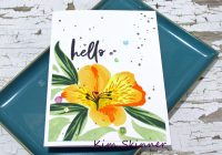 Create a single layer card with a 10 layered stamped lily