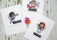 7 kids craft store Clean and simple angel christmas cards + video