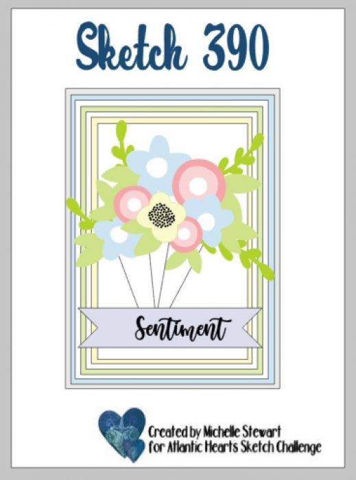 using up your patterned paper for a quick and easy card