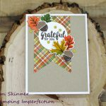 Quick and Easy Fall Card With Sunny Studio Stamps and Patterned Paper