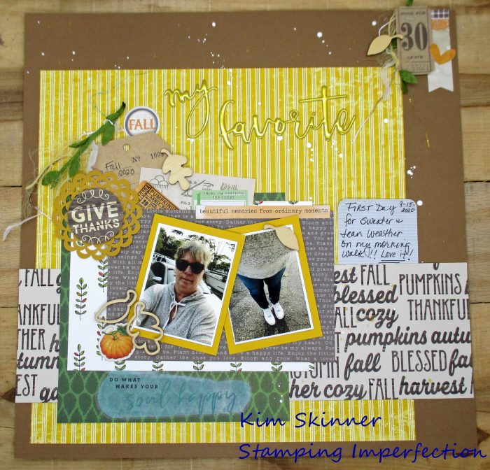 Scrapbook Color Challenge For Fall
