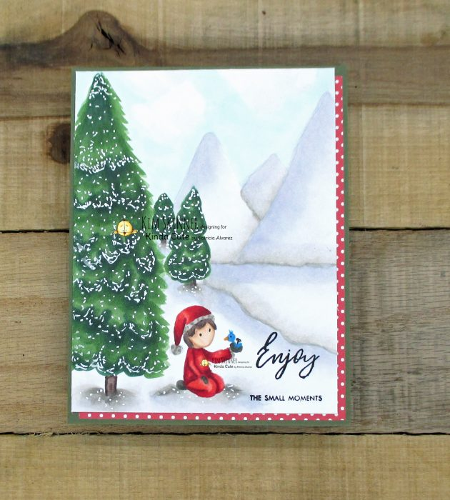 Snowy scene with digital images by kinda cute by patricia