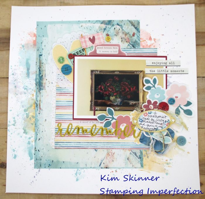 Using digital products on traditional scrapbook layouts