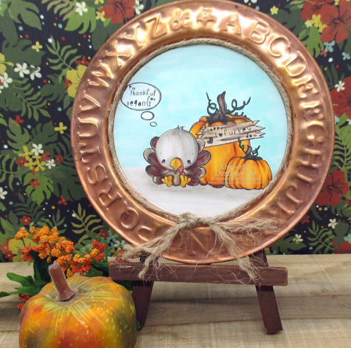 Using a digital image to create Thanksgiving Home Decor