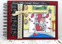 Mini Christmas Scrapbook with Digital stamps