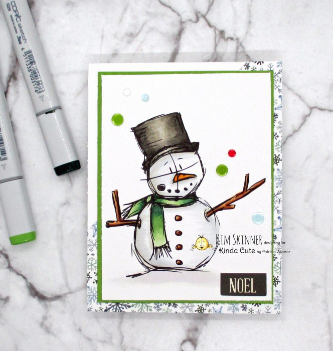 Quick card using a snowman digital image from kinda cute by patricia