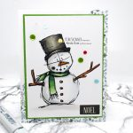 Quick Card: Sweet Little Snowman Digital Image