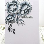 Clean And Simple Monochromatic Sympathy Card With The Rabbit Hole Designs