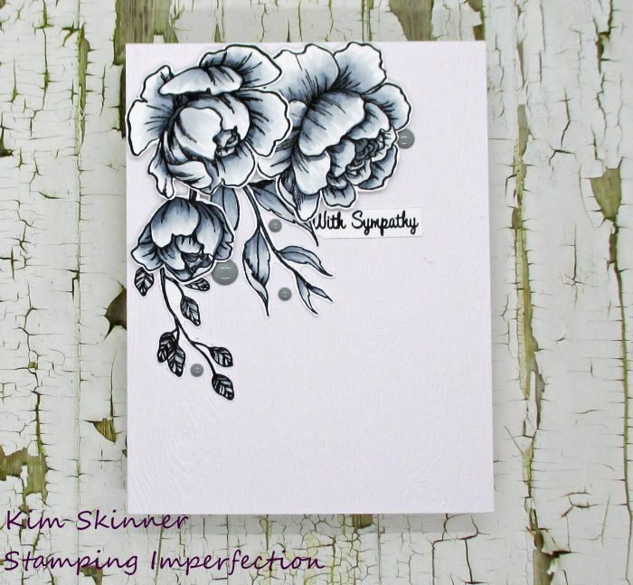 Monochromatic seasonal sympathy card with the rabbit hole designs