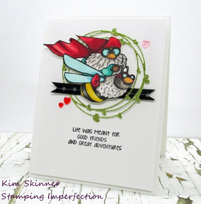Christmas Card with Stamping Bella Flying Gnome