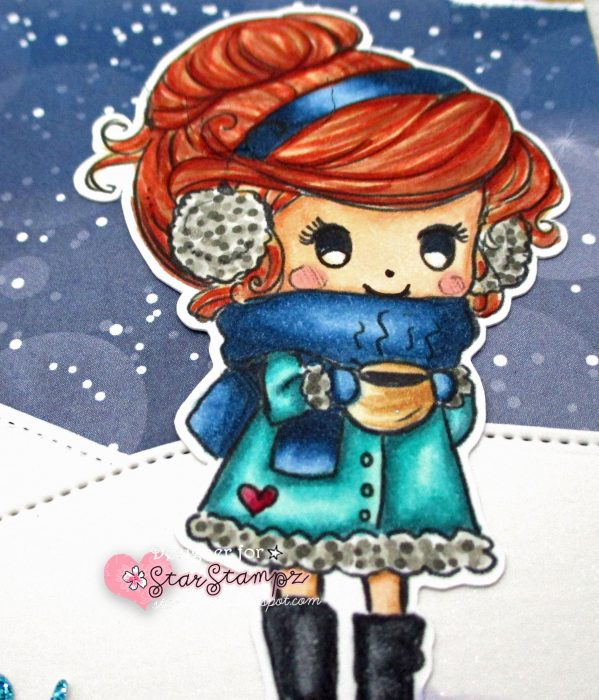 Winter Traveler's Notebook with Star Stampz Digi