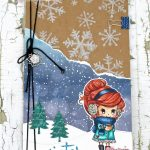 Cute Winter Traveler's Notebook With Star Stampz Digital Image