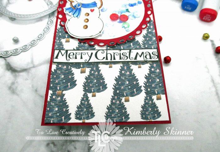 Slimline Christmas card with TLC designs