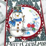 Creating A Christmas Slimline Card With TLC Designs Unique Dies And Digital Stamps!