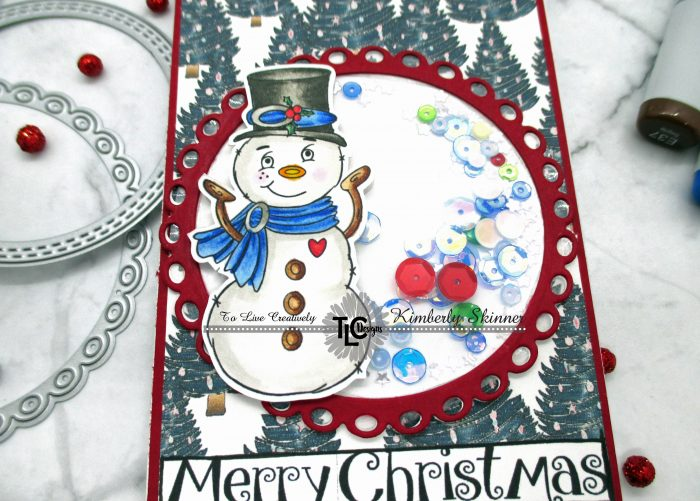 Snowman slimline with TLC Designs products