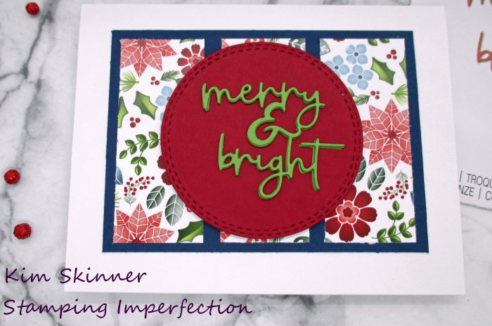 quick Christmas card with no stamping
