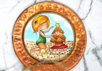 Christmas at the beach digital stamp Home Decor Project