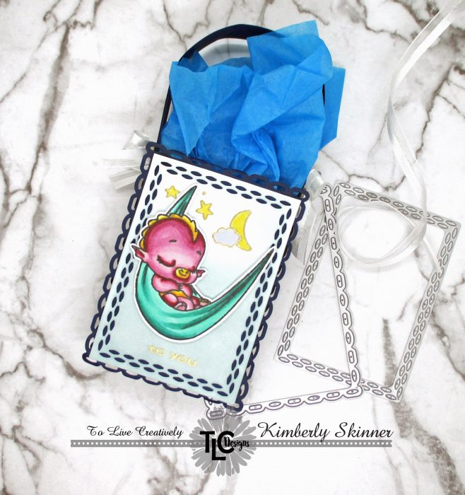 Create an easy gift bag with rectangle dies