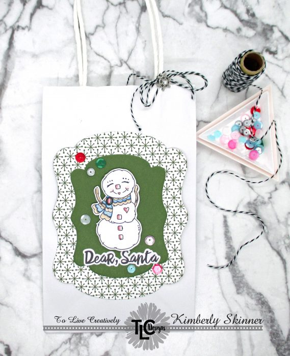 christmas gift bags, tags, and gift card holders
