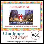 Scrapbook Layout Challenge YOUrself: Celebrate Love
