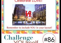 Celebrate Love Scrapbook Challenge