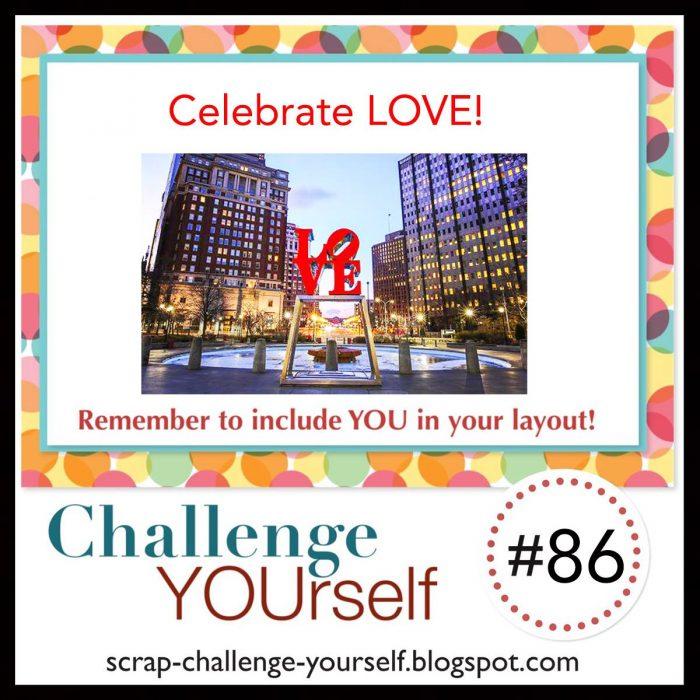 Celebrate Love Scrapbook Challenge