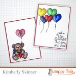 DIY Valentines: Create 2 Adorable Cards With The Sweet Bear Scrappy Tails Stamp Set