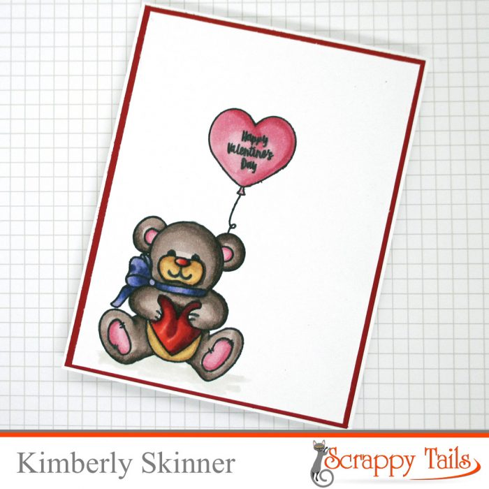 Scrappy Tails Sweet Bear Valentine's Day Cards