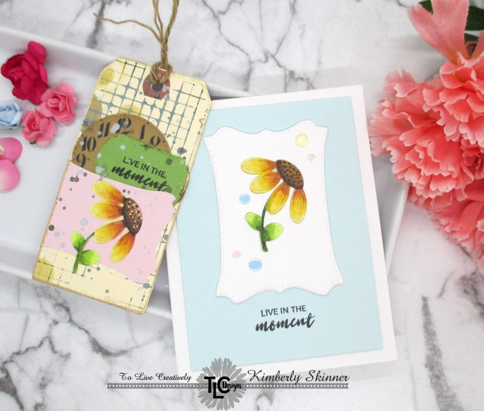 quick and easy die cut card and mixed media bookmark