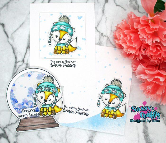 Sassy and Crafty Warm Winter Cuddles Cards