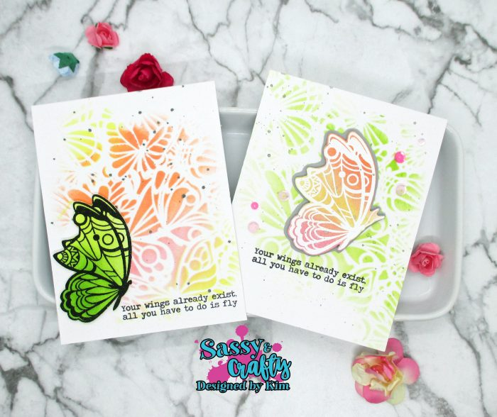 sassy and crafty butterfly cards