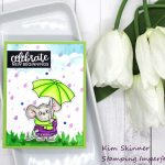 Create A Spring Background With Stencils For A Cute Critter