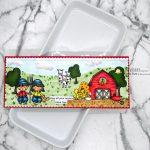 Slimline Card With Farm Clipart Digital Images