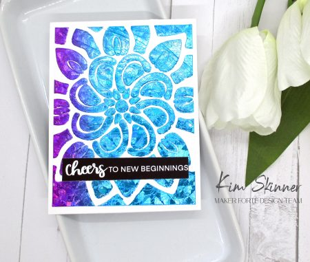 stenciling foil and paste