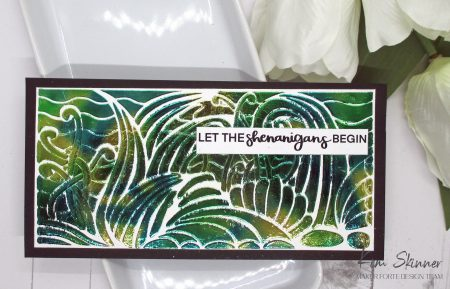 stenciling techniques: foiling and glitter paste