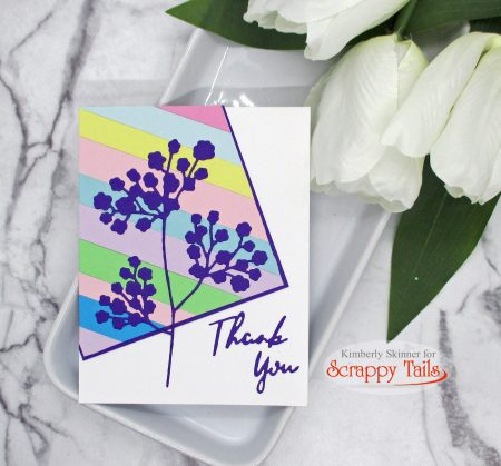 Creating cards with cardstock scraps