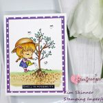 Spring Card Challenge Using Digital Stamps