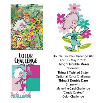Double Trouble Challenge + Make the Cards Challenge