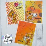 Sassy & Crafty Stenciled Backgrounds For 3 Quick Cards