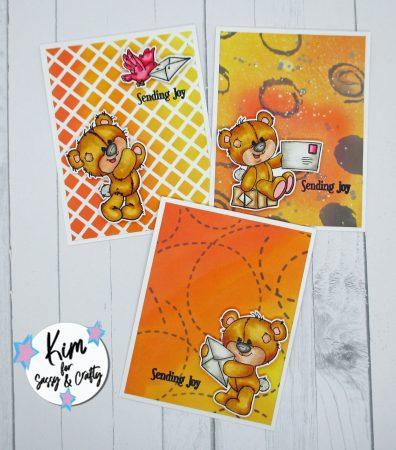 3 Cards with Sassy & Crafty stencils