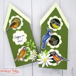 Birdhouse Cards: A Slimline And An Interactive Pop Up Card