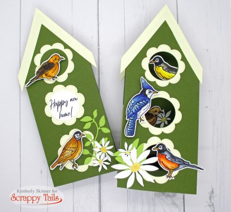 Scrappy Tails Slimline Pop Up Birdhouse Die Set