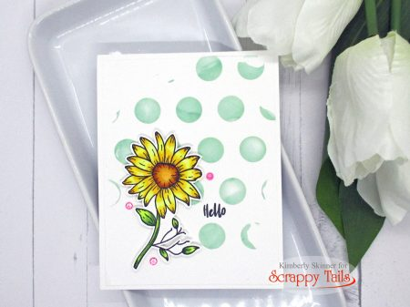 5 Stenciling techniques for backgrounds to create a floral card set