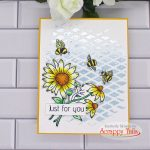 Scrappy Tails Crafts Oopsy Daisy Mixed Media Card