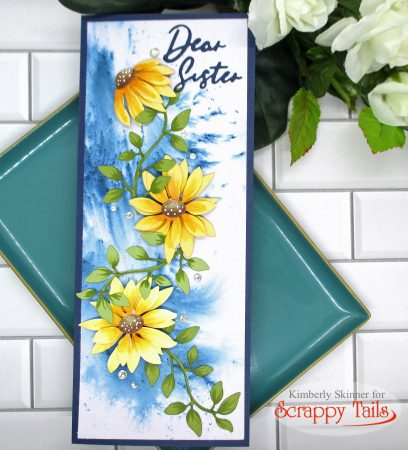 Slimline Floral Card with No Stamping