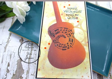 Stencil and Mixed Media techniques for slimline cards