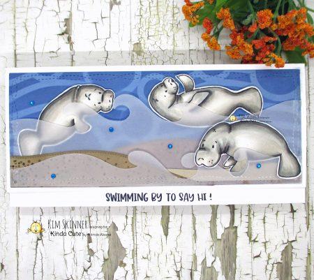 Kinda Cute by Patricia Manatee digital stamp set