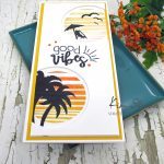 Summer Scene Slimline Peek-A-Boo Die Cut Card With Maker Forte Goodies!