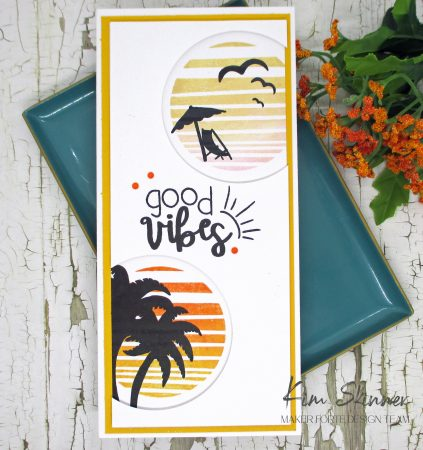 Summer Vibe Slimline Peek-a-Boo Card